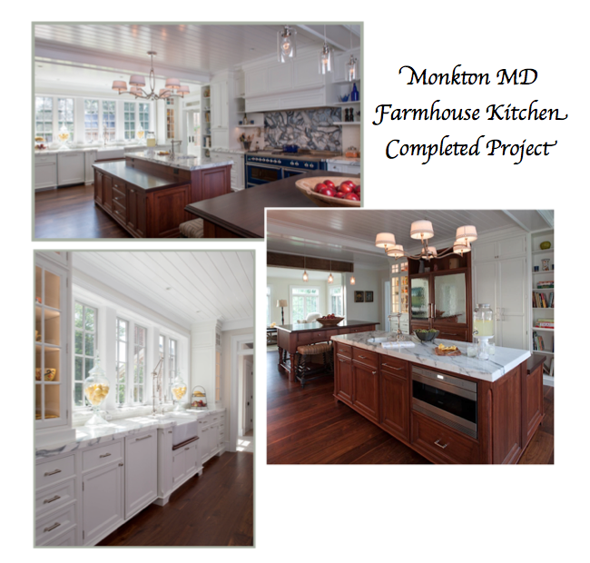 Monkton Maryland Custom Farmhouse Kitchen Design by Sandra Brannock