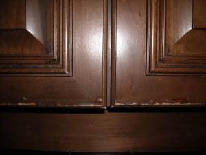 Kitchen Cabinet Door Finish Failure example