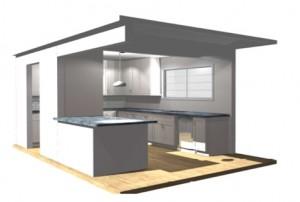 Arlington VA Kitchen Remodel CAD Drawing