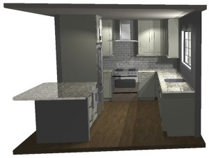 Arlington VA Kitchen Remodel CAD Drawing