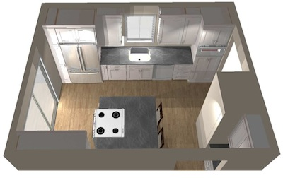 Reston VA Townhome Kitchen CAD Design