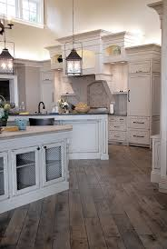 Kitchen wood tile floor example