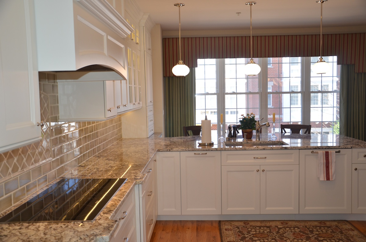 Traditional Townhome Kitchen. Reston, Virginia