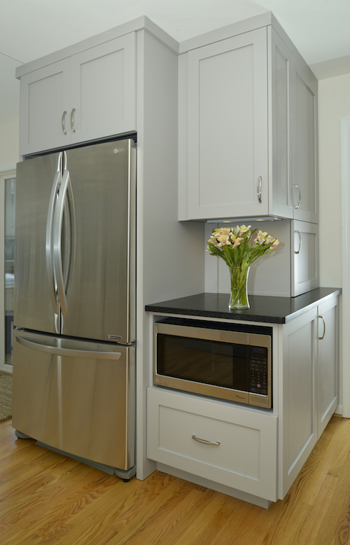 Amissville VA Kitchen Remodel with New Refrigerator and Corner Pantry
