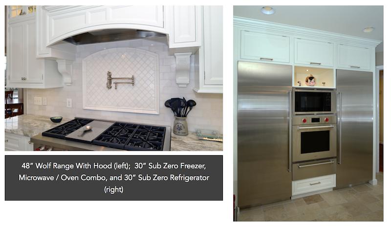 Oven Range, Sub Zero refrigerator and freezer