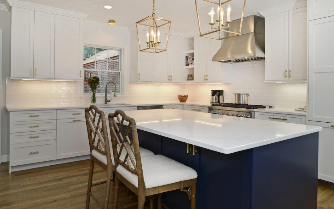 Arlington VA Small Colonial Kitchen Addition Kitchen Island View