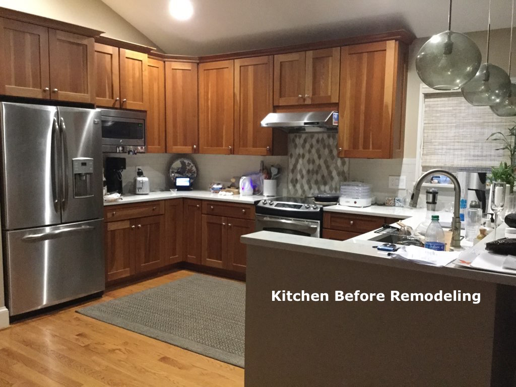 Original Kitchen Cooktop and Counter Space Before Remodel